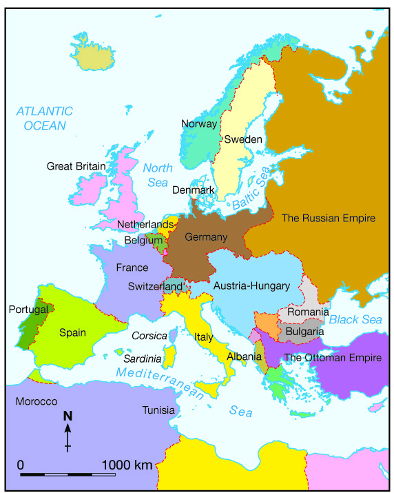 Delightful Picture. Map 01: Europe Before World War One ...